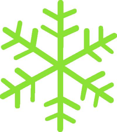 400x453 Green Snowflakes Clipart