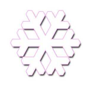 300x300 Pink Snowflake Clipart