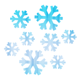 256x256 Snowflake Cluster Clipart