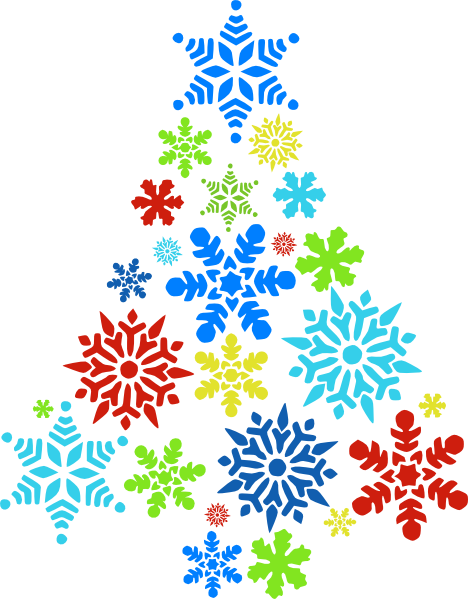 468x599 Snowflake Clipart Colorful