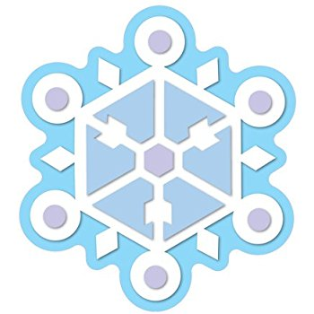 350x350 Carson Dellosa D.j. Inkers Snowflakes Cut Outs