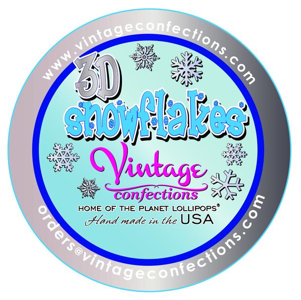 600x598 Wholesale 3d Snowflakes Vintage Confections Custom Lollipops