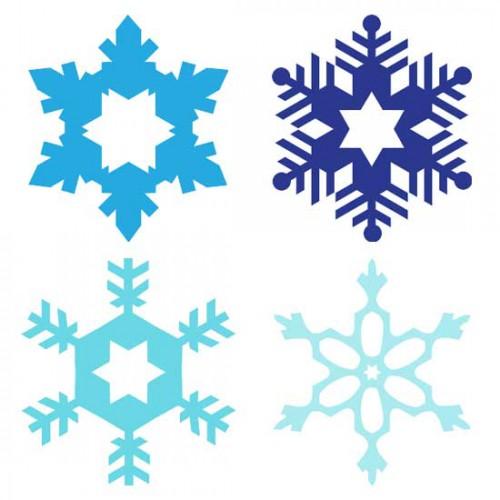 500x500 Basic Snowflakes
