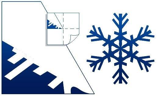 518x316 Diy Pretty Kirigami Snowflakes (Free Template)