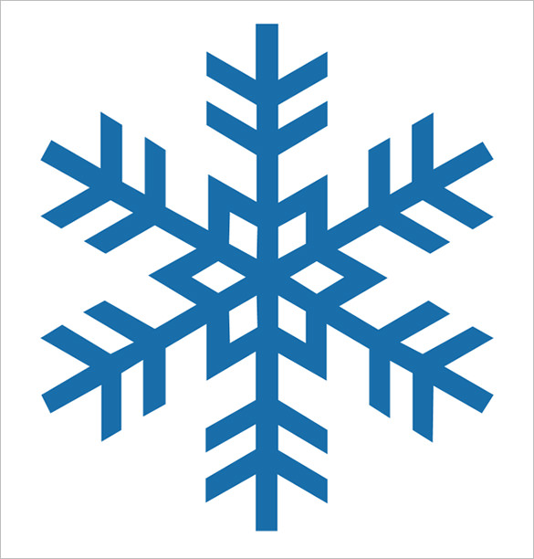 585x612 Snowflake Stencil Template Free Printable Word, Pdf, Jpeg