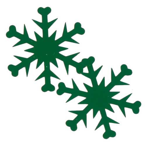500x494 Green Confetti Snowflakes, Green Snowflake Confetti