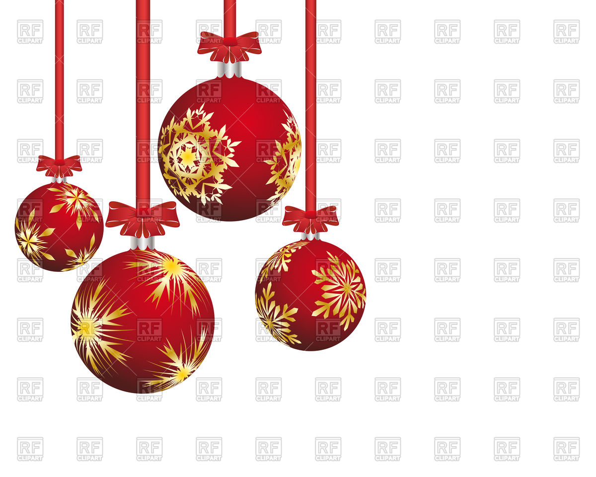 1200x960 Red Christmas Balls With Snowflakes Royalty Free Vector Clip Art