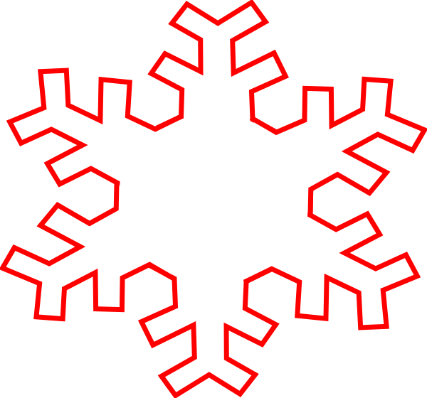 600x560 Snowflake Clipart Outline
