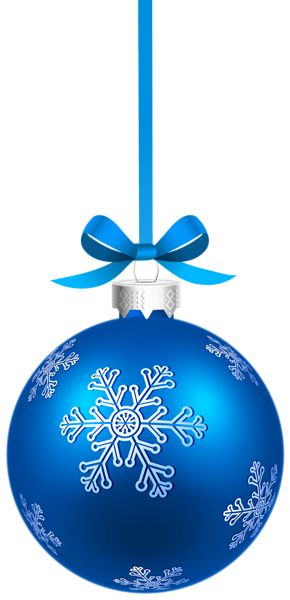 290x600 Snowflake Ornaments Clipart