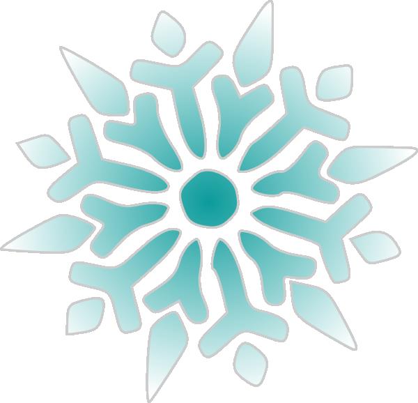 600x578 Snowflake Clipart Teal