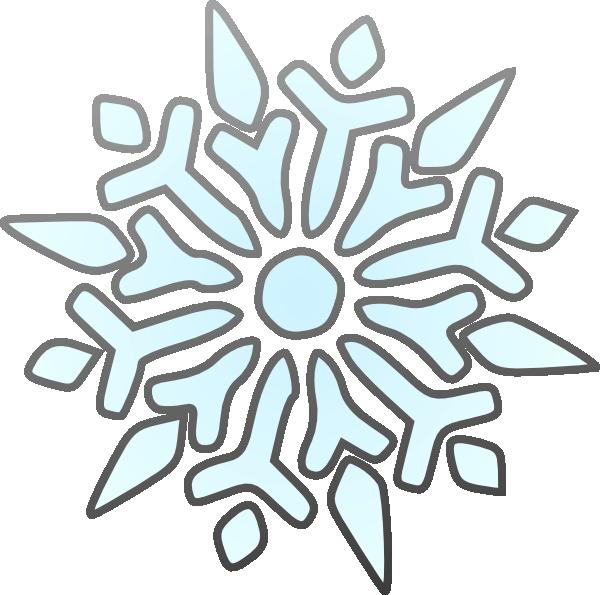 600x595 Snowflakes Clipart