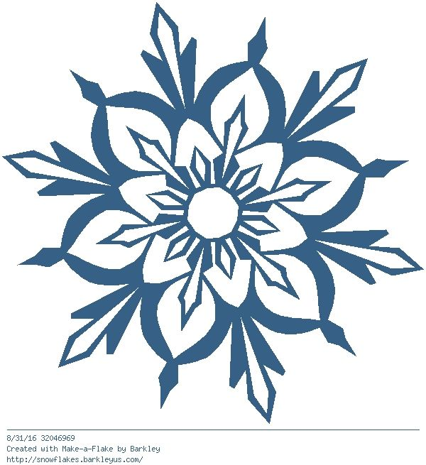 600x655 Blue Flower Clipart Snowflake