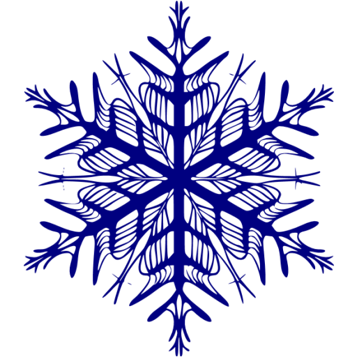 512x512 Navy Clipart Snowflake