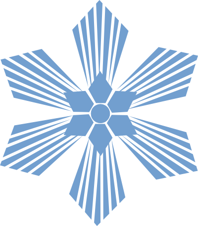 400x457 Snowflake Divider Clipart