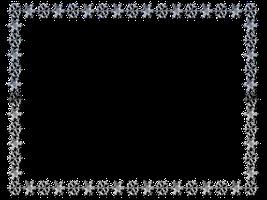 267x200 Snowflake Frame Clipart