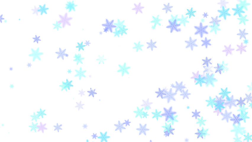 852x480 3d Rendered Blue Snowflake Made Of Transparent Glass Rotating