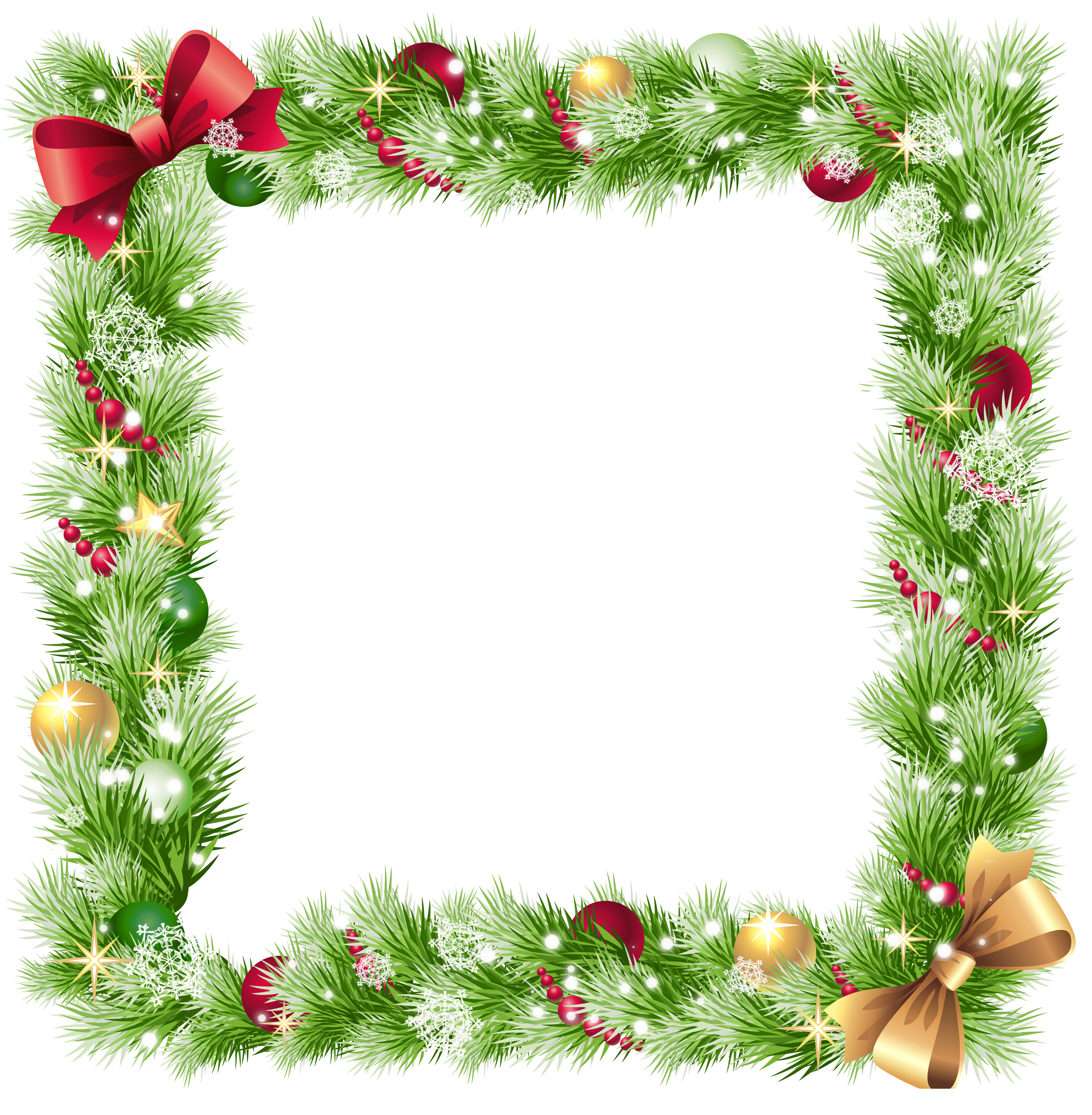 4027x4114 Snowflake Clipart Transparent Border