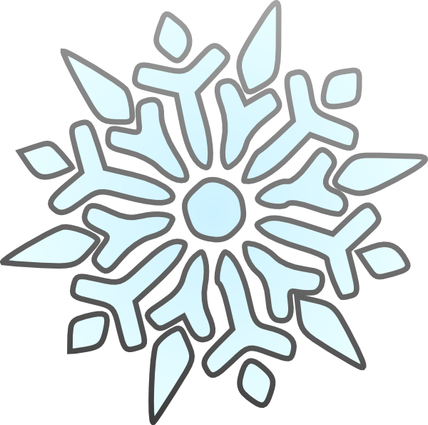 600x595 White Snowflake Clipart Transparent Background