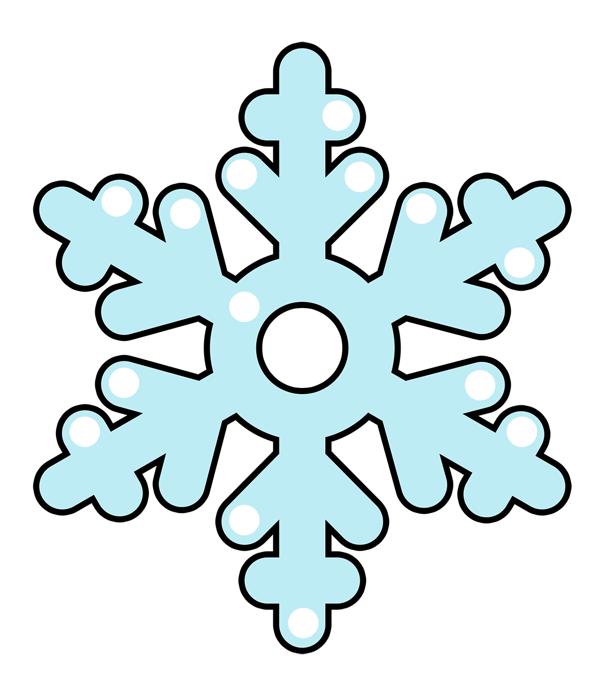 1200x1362 Cartoon Clipart Snowflake