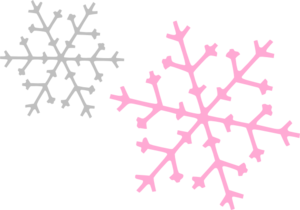 300x210 Ornament Snowflakes Pink Gray Clip Art