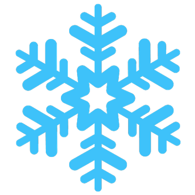 400x400 White Snowflake Transparent Png