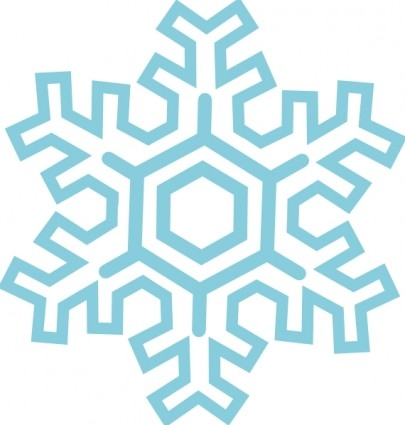 405x425 Snowflake Clipart Banner