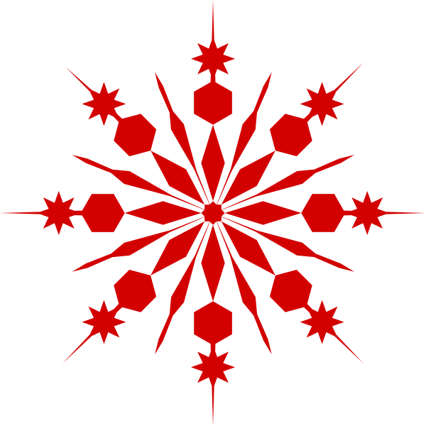 600x600 Snowflake Clipart Transparent Background