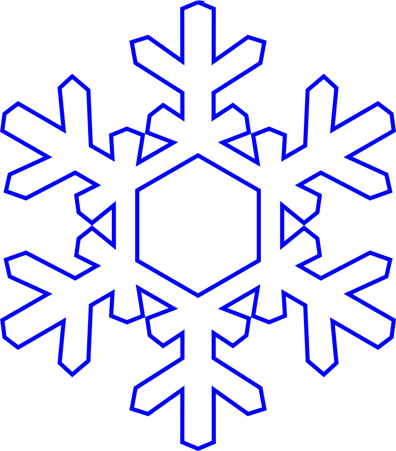 800x911 Snowflake Clipart Cut Out