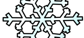 272x125 Free Snowflake Clipart Transparent Background Clipart Panda