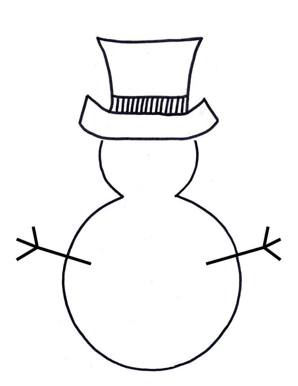 1007x1304 Christmas Snowman Clipart Black And White Lights Decoration Print