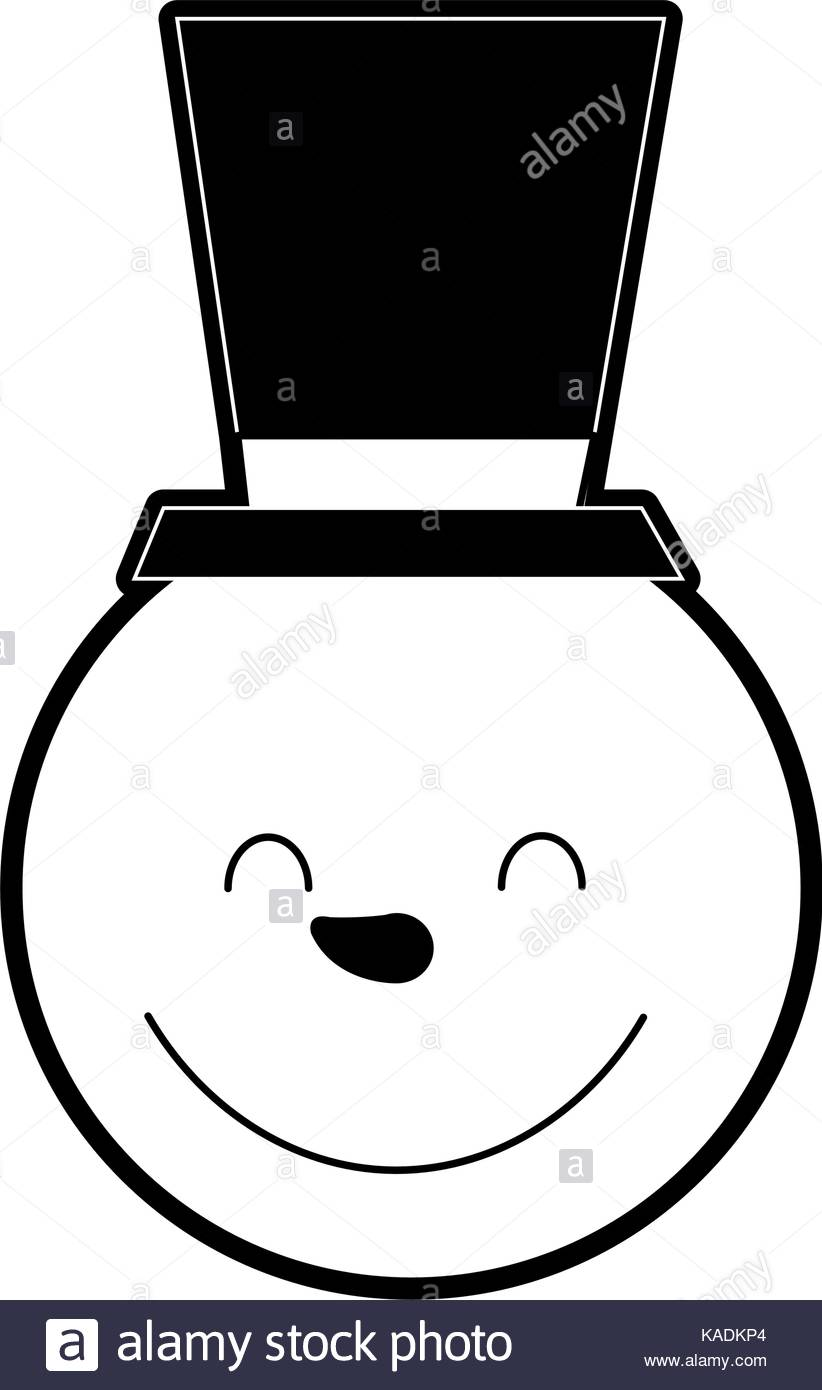 822x1390 Happy Snowman Black And White Stock Photos Amp Images