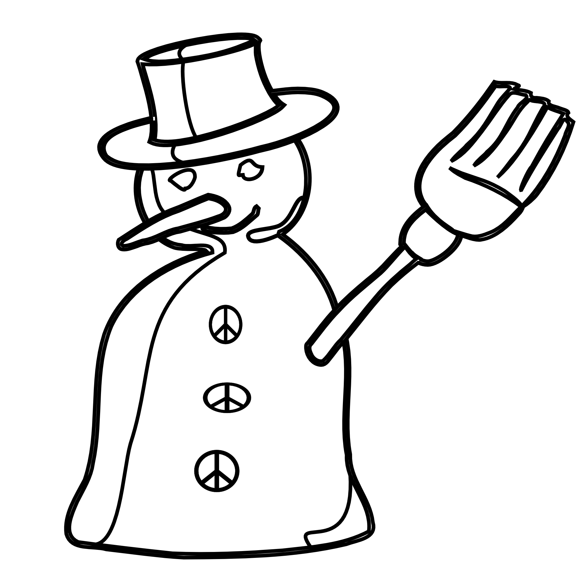 1979x1979 Snowman Black And White Clipart