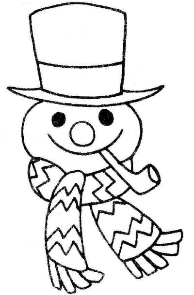400x610 Snowman Black And White Snowman Face Clip Art