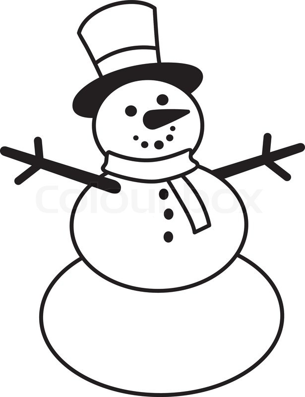 615x800 Snowman Doodle Stock Vector Colourbox