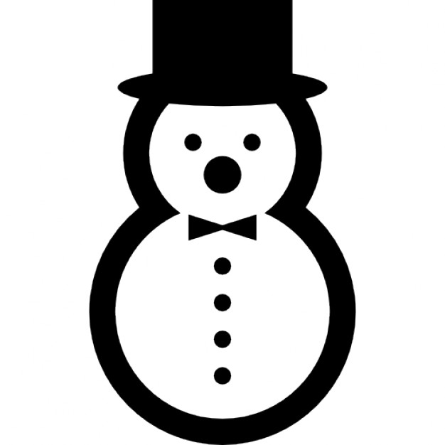 626x626 Snowman With Elegant Hat And A Bow Icons Free Download