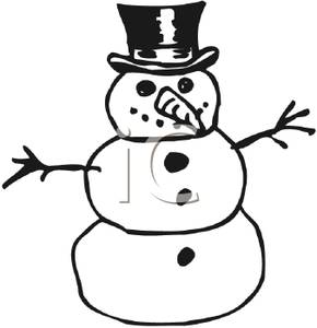 290x300 And White Snowman Clipart Image