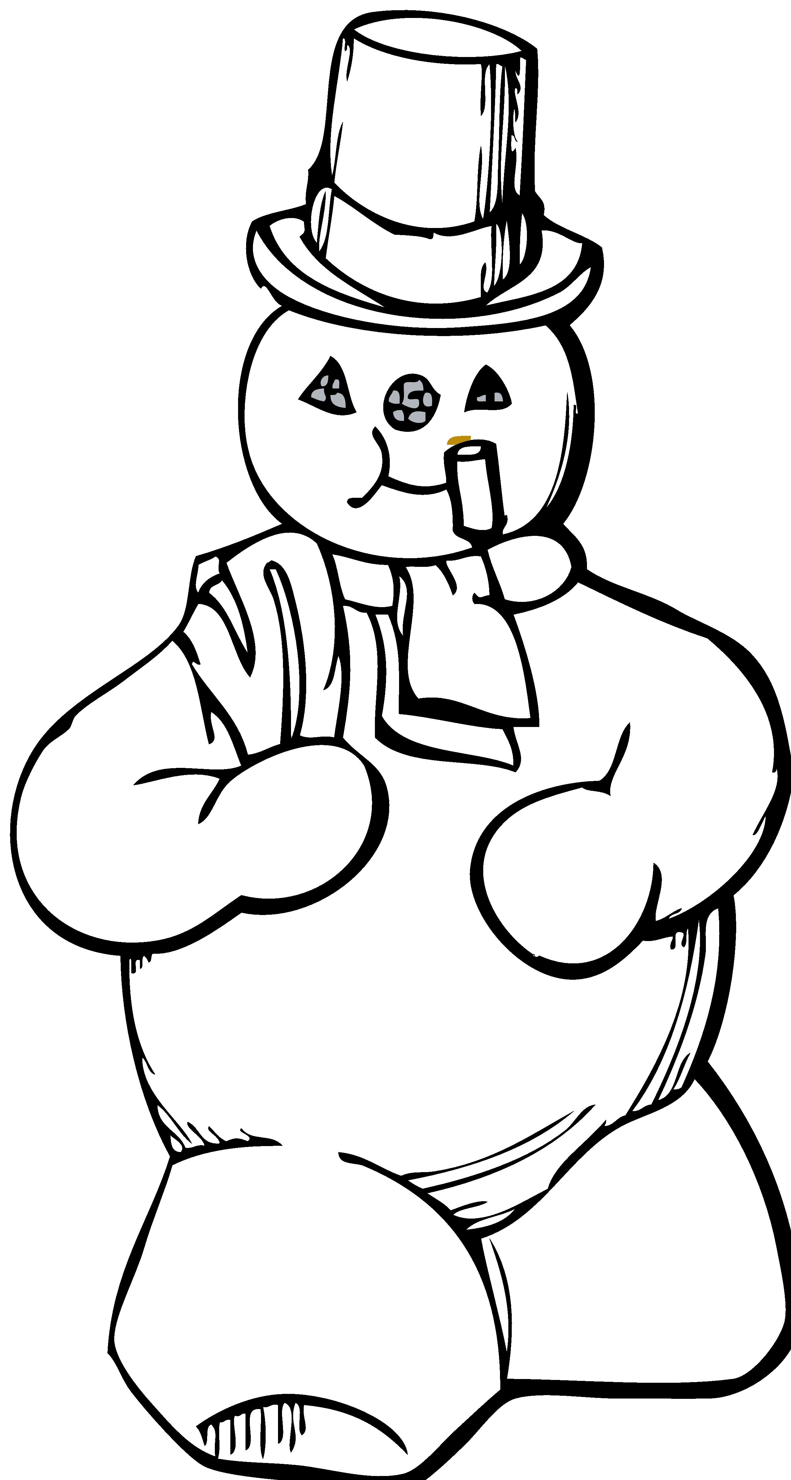 2555x4778 Black Amp White Clipart Snowman
