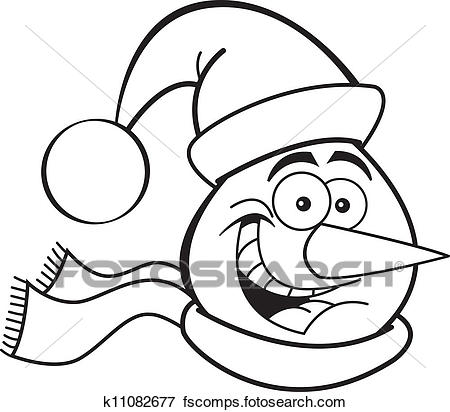 450x412 Clip Art Of Snowman Head K11082677