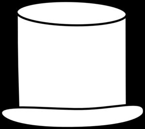 299x267 White Top Hat Clip Art