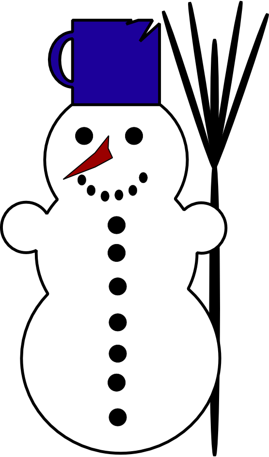 555x944 Snowman