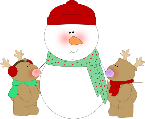 470x386 Christmas Snowman Clipart