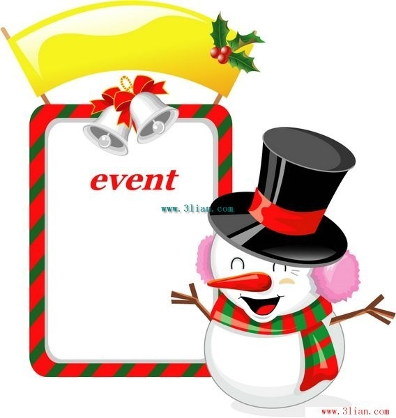 568x600 Christmas Snowman Background Border Vector Free Vector In Adobe