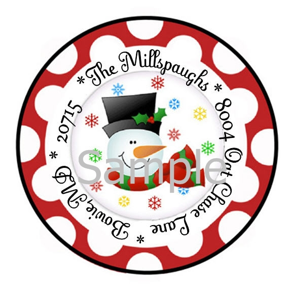 564x560 Christmas Holiday Snowman With Red Border