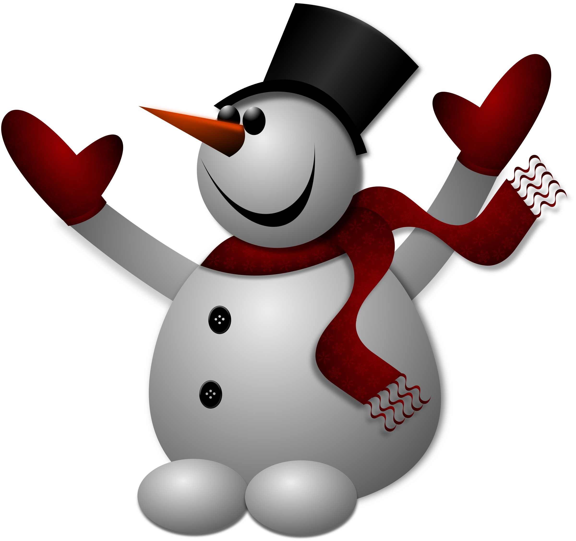 2400x2257 Happy Snowman Clip Art Cliparts