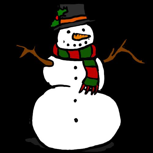 500x500 Snowman Clipart December