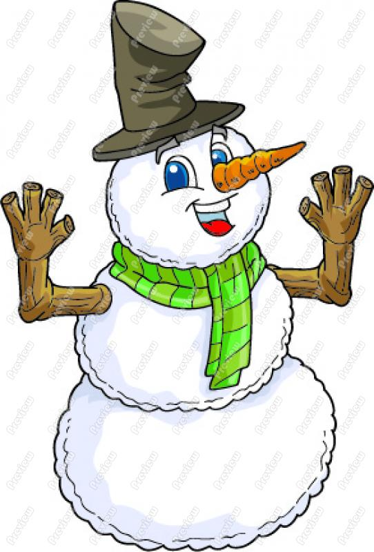 542x800 Cartoon Snowman Clip Art