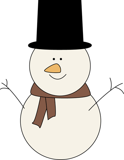 426x550 Classic Snowman Clip Art