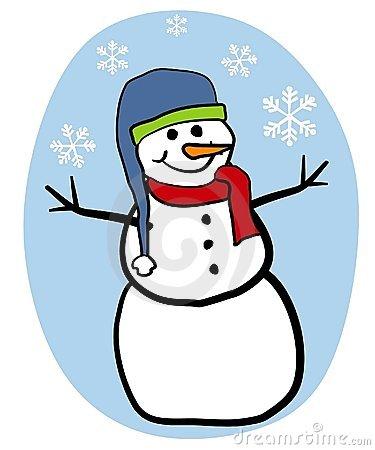 375x450 Clip Art Snowman