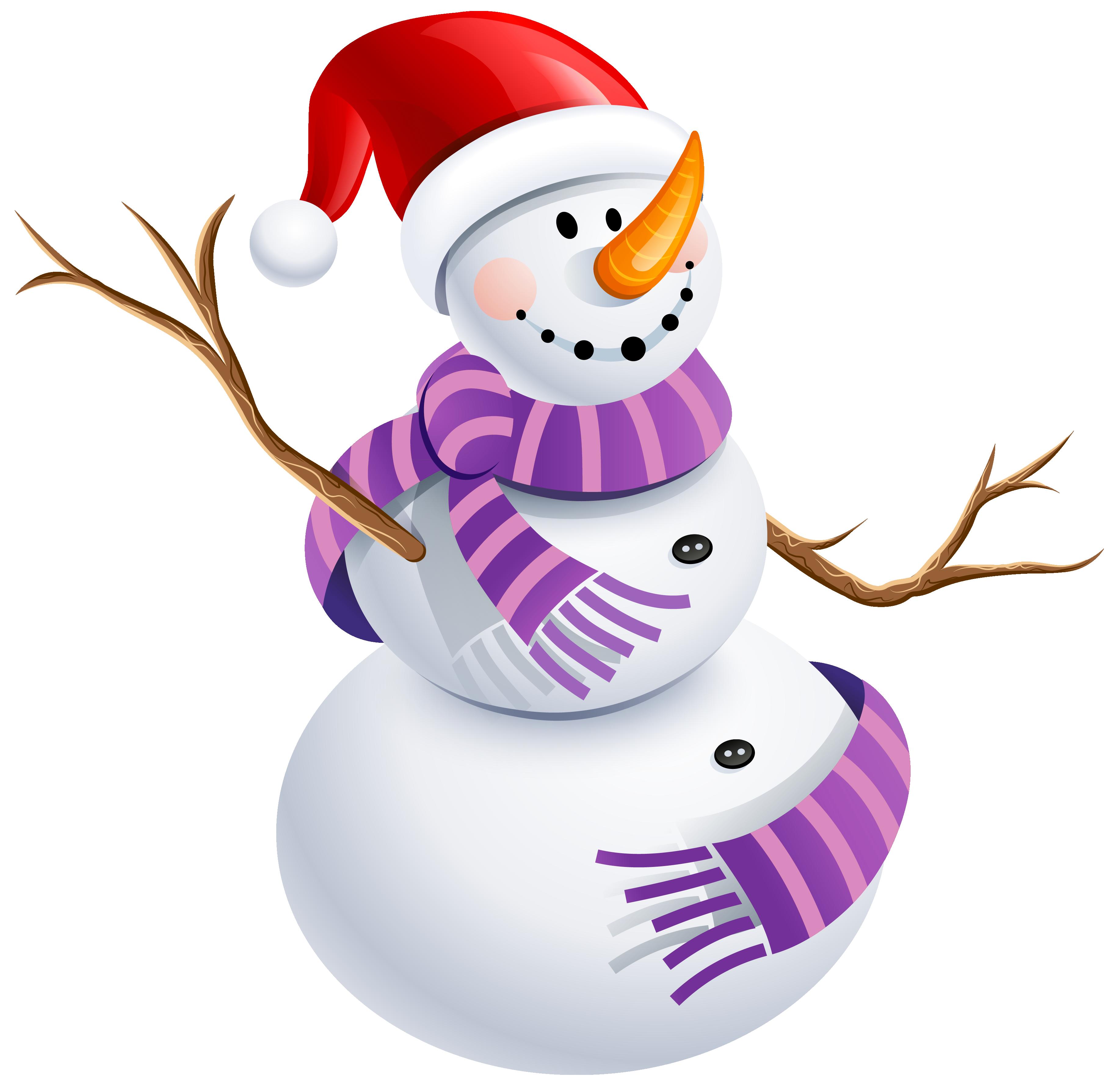 3646x3576 Snowman Scarf Clipart