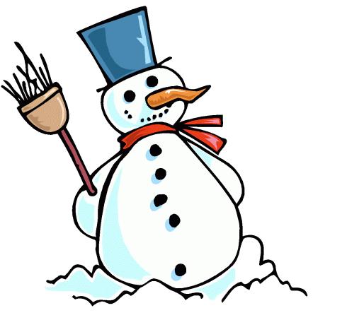 490x470 Snowman Clipart Blue